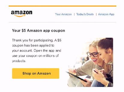 Купон на 5 долларов от Amazon